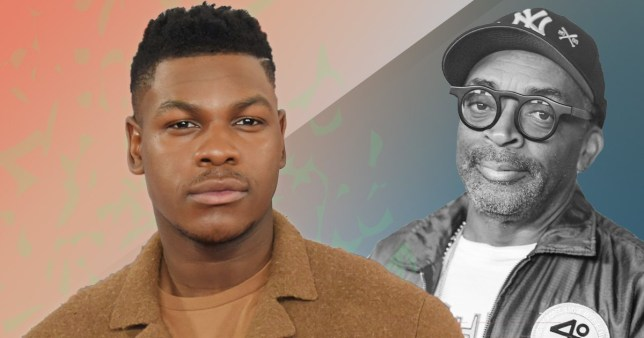 Actor John Boyega with director Spike Lee