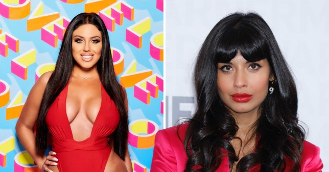 Jameela Jamil pictured with new Love Island contestant Anna Vakili