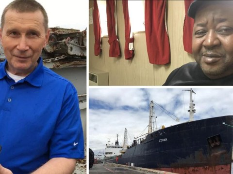 Sailors stranded on a ship for two-and-a-half years after it was abandoned by owner