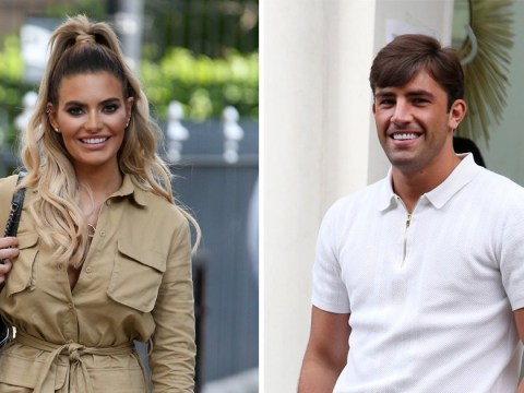 Megan Barton Hanson and Jack Fincham all smiles as they kick off Celebs Go Dating filming
