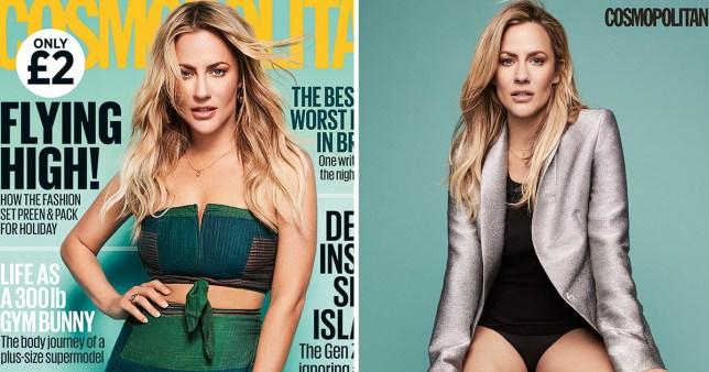 Caroline Flack on cover of Cosmopolitan magazine