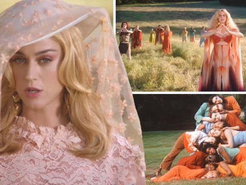 Katy Perry is queen of zen as she rocks out in new Never Really Over music video