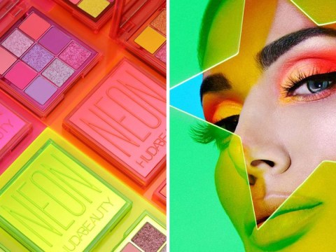 Huda Beauty's new Neon Obsessions Eyeshadow Palettes are bang on trend