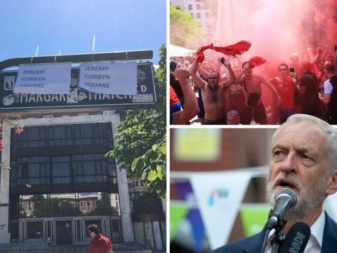 Liverpool fans rename Madrid's Margaret Thatcher Square ahead of Champions League final