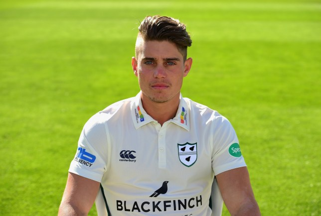 WORCESTER, ENGLAND - APRIL 06: Alex Hepburn of Worcestershire County Cricket Club poses in the Specsavers County Championship kit during the Worcestershire County Cricket photocall held at New Road on April 6, 2017 in Worcester, England. (Photo by Tony Marshall/Getty Images)