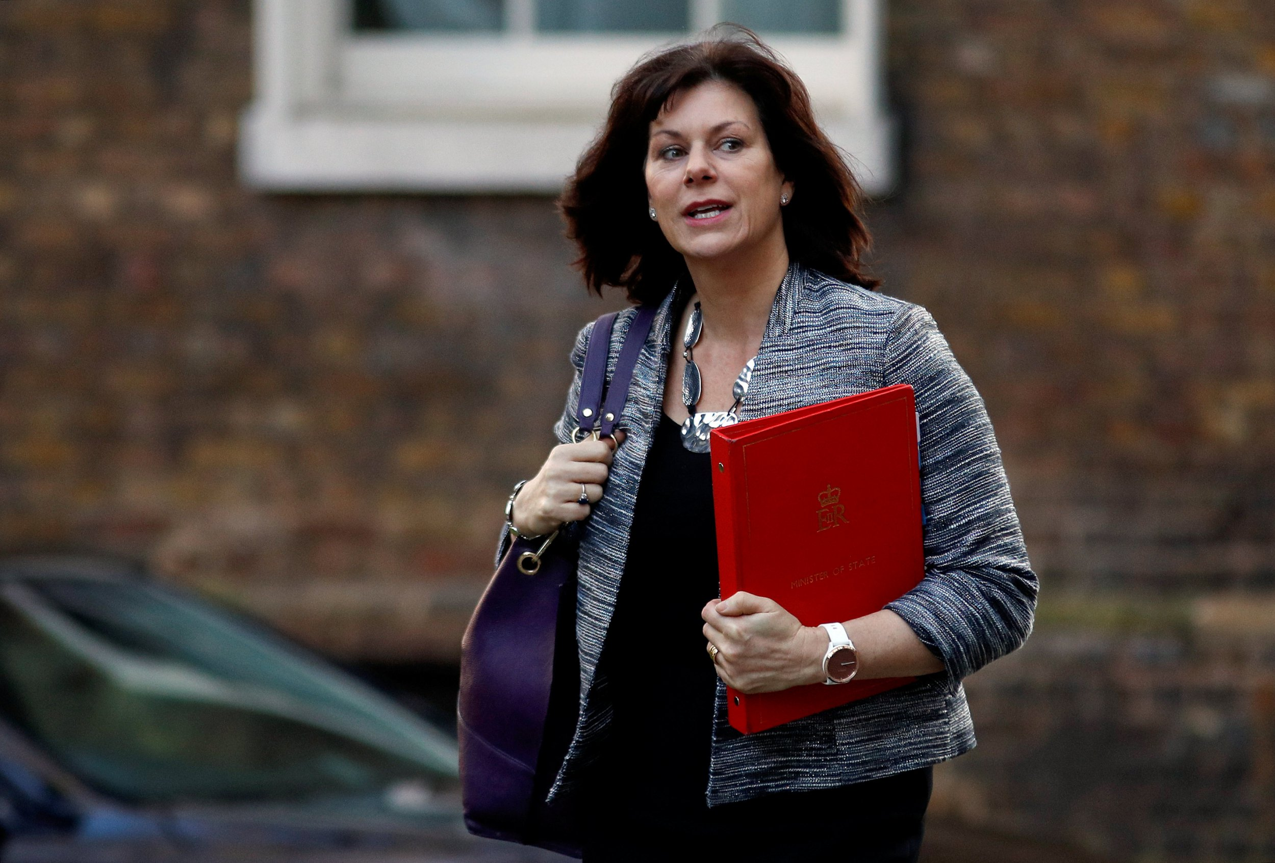 Britain's Minister of State for Energy and Clean Growth Claire Perry is seen outside of Downing Street in London, Britain, February 19, 2019. REUTERS/Peter Nicholls