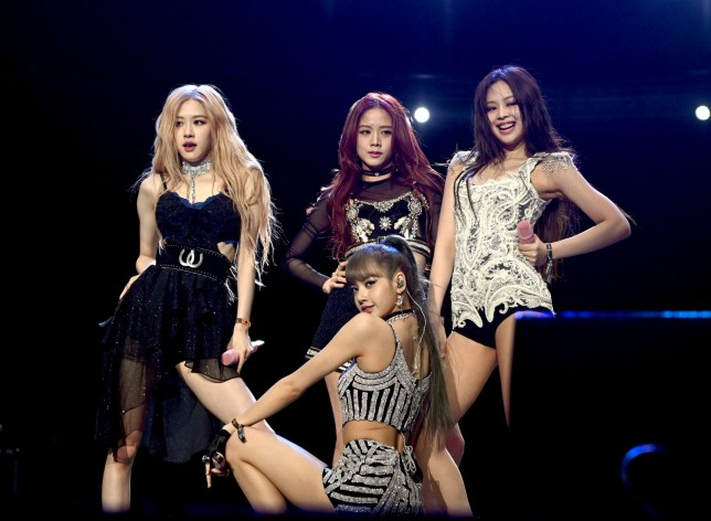 INDIO, CALIFORNIA - APRIL 12: (L-R) Singers Rose, Jisoo, Lisa and Jennie Kim of BLACKPINK perform onstage during the 2019 Coachella Valley Music and Arts Festival on April 12, 2019 in Indio, California. (Photo by Scott Dudelson/Getty Images for Coachella)