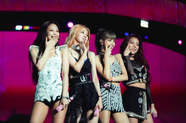 INDIO, CALIFORNIA - APRIL 12: (L-R) Jennie, Rose, Lisa and Jisoo of BLACKPINK perform onstage during Weekend 1, Day 1 of the 2019 Coachella Valley Music and Arts Festival on April 12, 2019 in Indio, California.(Photo by Natt Lim/Getty Images for Coachella)