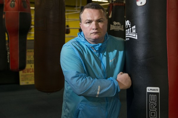 Mandatory Credit: Photo by REX (8373461g) Former professional boxer Bradley Welsh in his new boxing gym Former professional boxer Bradley Welsh, Edinburgh, Scotland, UK - 08 Sep 2015 Former professional boxer Bradley Welsh in his new boxing gym, Europe's largest, with seven boxing rings, 160 bags and a sprint running track - all in the middle of Edinburgh. Bradley also plays a Sauna (Brothel) owner in new film Trainspotting 2