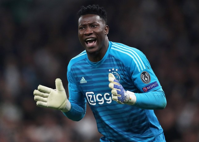 5eb8ed443 Manchester United submit bid to sign Ajax goalkeeper Andre Onana as David  De Gea s replacement
