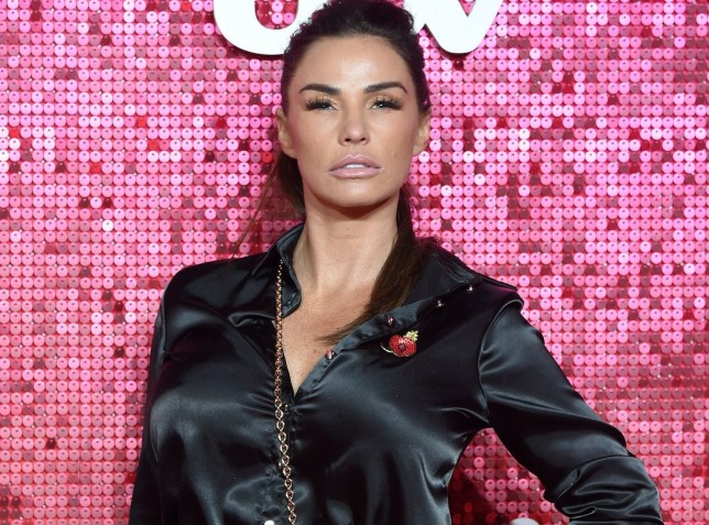 Katie Price on red carpet