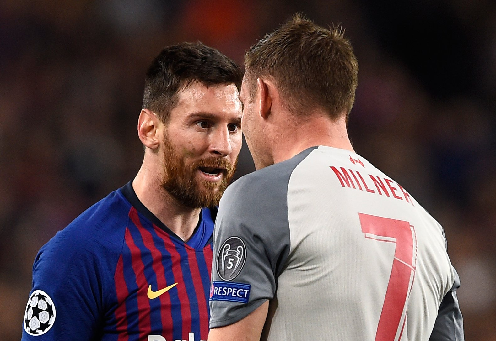Lionel Messi called James Milner a 'donkey' during Liverpool's Champions League clash with Barcelona