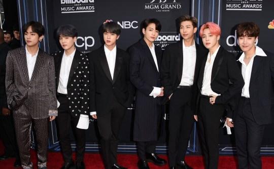 Mandatory Credit: Photo by Jason Merritt/REX (10225539at) BTS Billboard Music Awards, Arrivals, MGM Grand Garden Arena, Las Vegas, USA - 01 May 2019