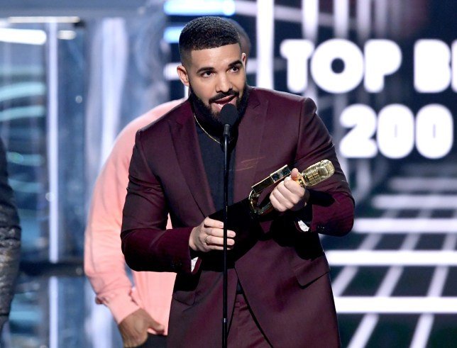 Drake accepts the Top Billboard 200 Album award for 'Scorpion' onstage during the 2019 Billboard Music Awards at MGM Grand Garden Arena
