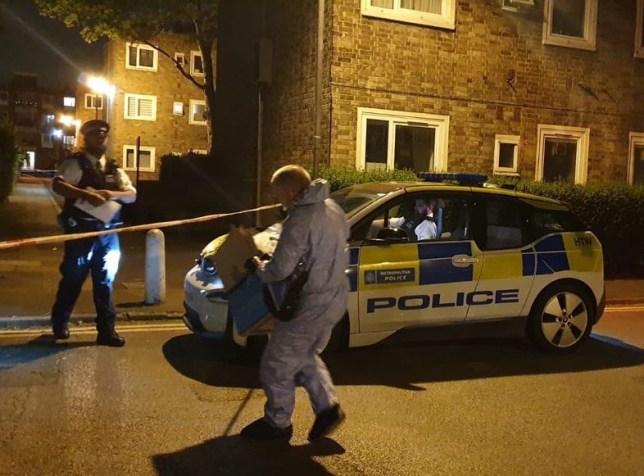 Hackney stabbings Picture: 999London