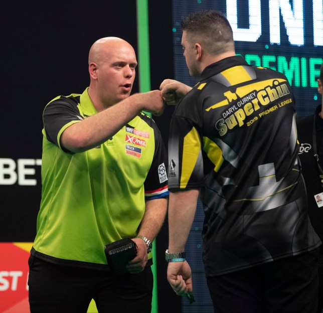 Michael van Gerwen and Daryl Gurney