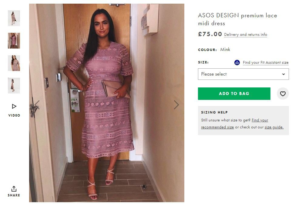 Woman whose dress was insulted on Tinder gets last laugh as ASOS model