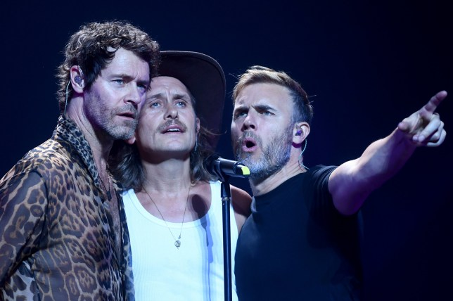 Take That perform on Greatest Hts Live Tour
