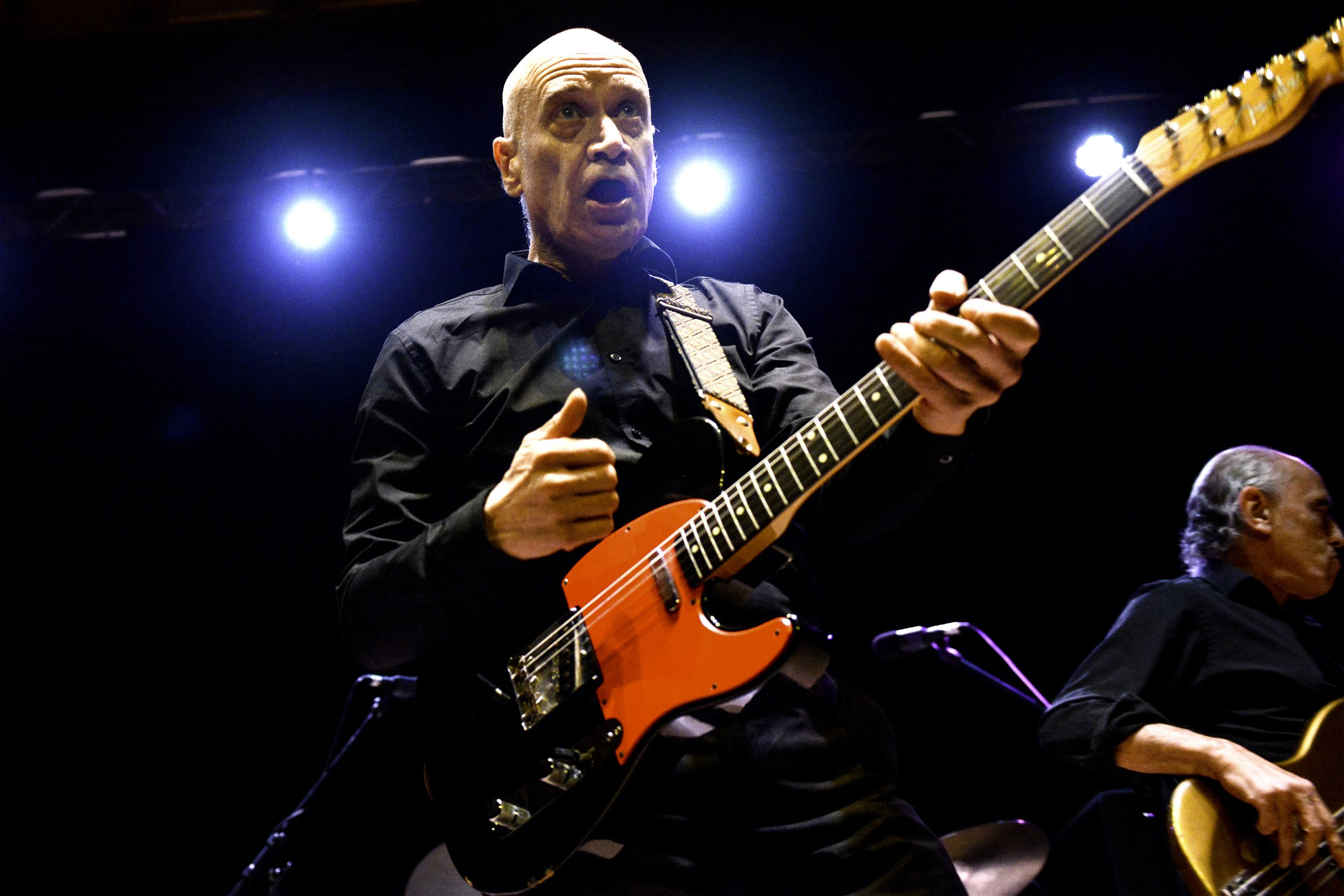 Wilko Johnson Performs at City Hall on October 07, 2016 in Sheffield, England.