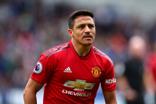 HUDDERSFIELD, ENGLAND - MAY 05: Alexis Sanchez of Manchester United during the Premier League match between Huddersfield Town and Manchester United at John Smith's Stadium on May 5, 2019 in Huddersfield, United Kingdom. (Photo by Robbie Jay Barratt - AMA/Getty Images)