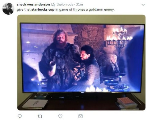 Game Of Thrones viewers spot Starbucks cup in shot and we