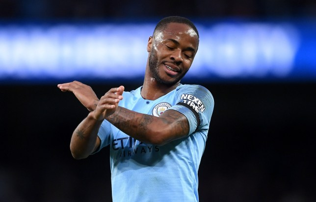 Manchester City's Raheem Sterling says he was happy to see Liverpool beat Barcelona