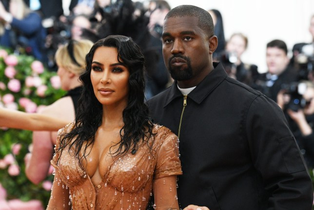 Kanye West with wife Kim Kardashian