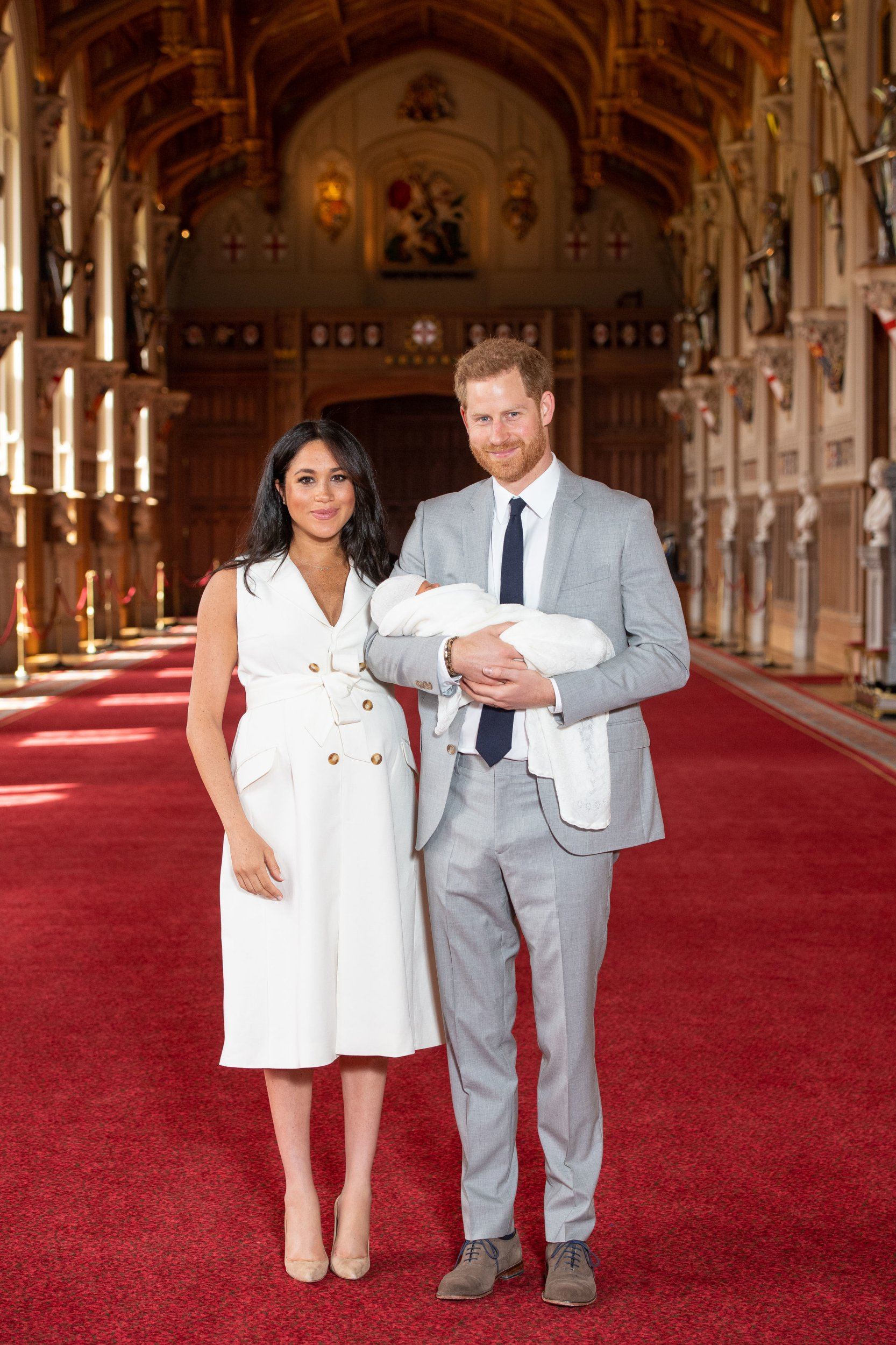 What Meghan and Harry wore in their first official photos with baby Sussex