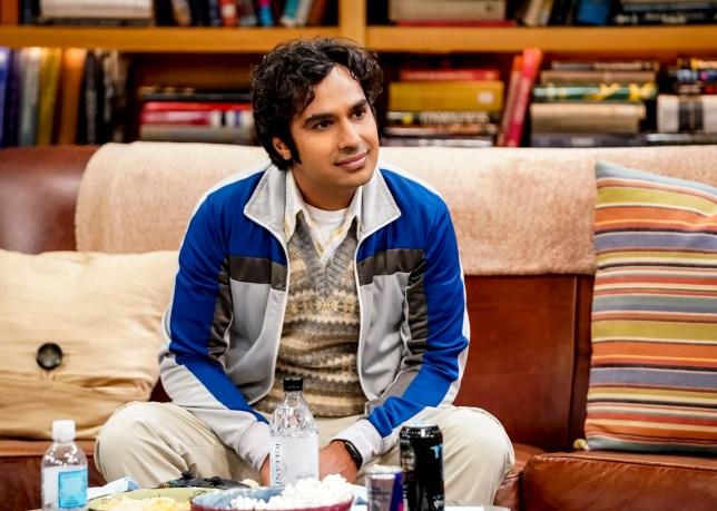 Raj Koothrappali on Big Bang Theory