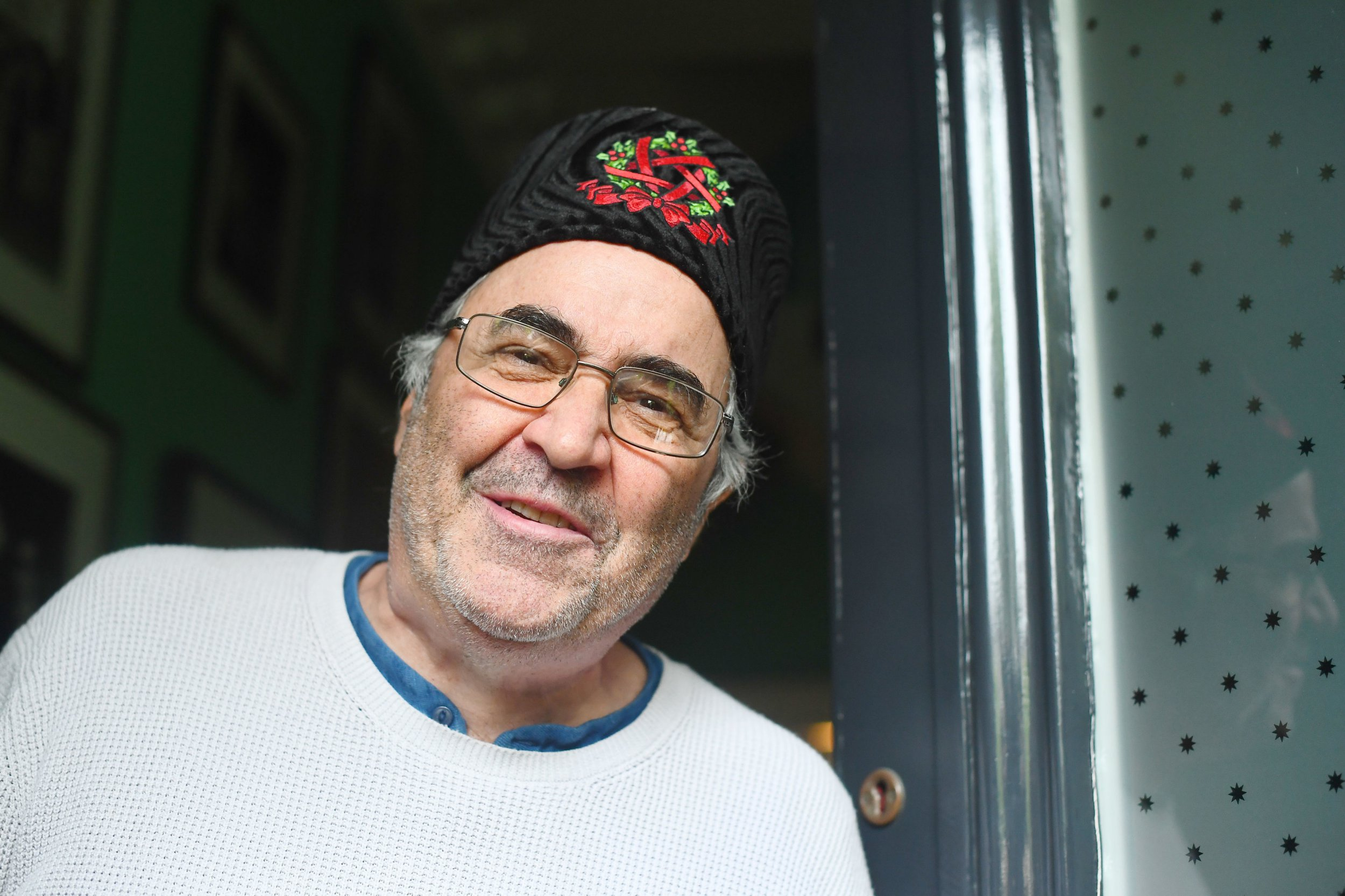 Danny Baker looks animated on doorstep as he insists Royal Baby tweet was 'about class, not race'