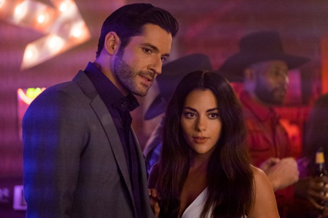 Tom Ellis as Lucifer and Inbar Lavi as Eve in Lucifer season 4 (Picture: Netflix)