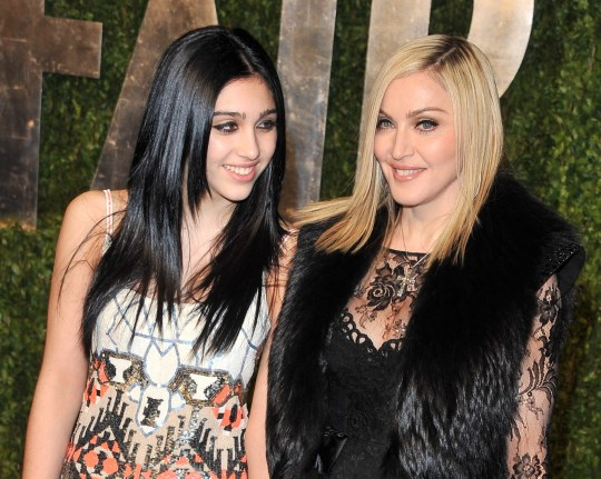 WEST HOLLYWOOD, CA - FEBRUARY 27: Madonna (R) and daughter Lourdes Leon arrive at the Vanity Fair Oscar party hosted by Graydon Carter held at Sunset Tower on February 27, 2011 in West Hollywood, California. (Photo by George Pimentel/WireImage)