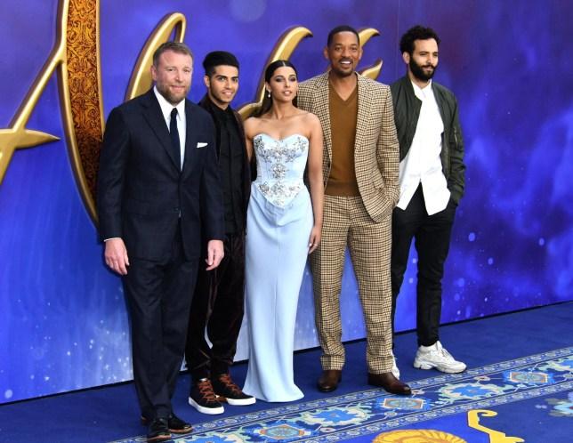 Guy Ritchie, Mena Massoud, Naomi Scott, Will Smith and Marwan Kenzari at the London premiere of Aladdin