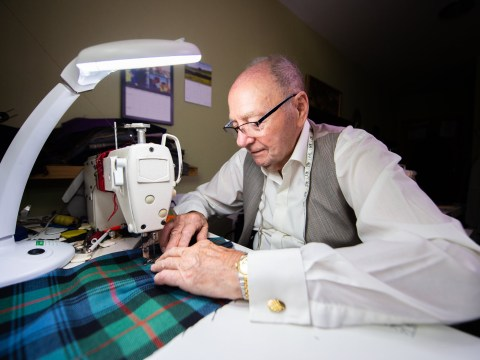 95-year-old granddad sews clothes for his family from his care home