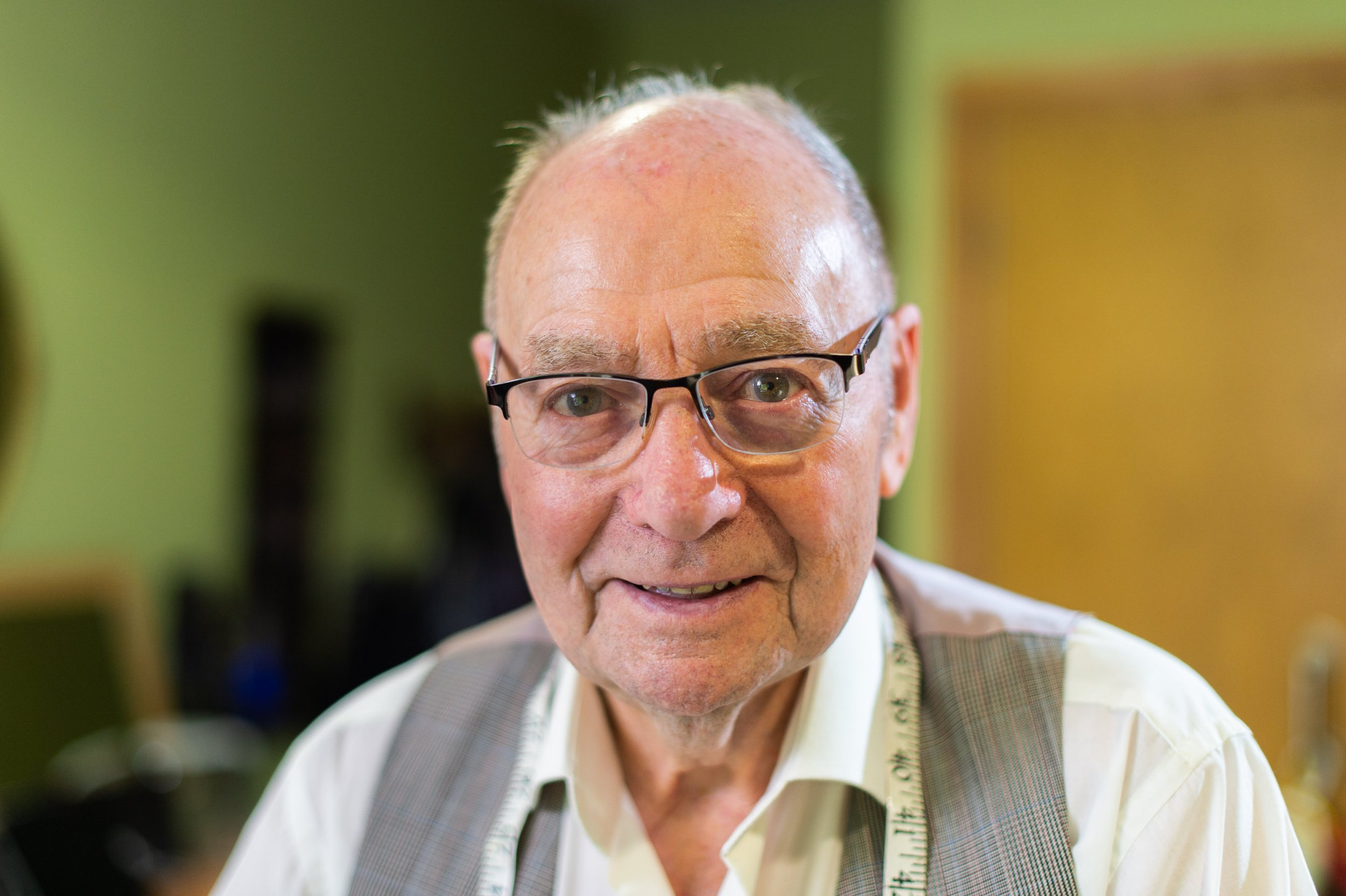Elwyn Hughes is still tailoring at the age of 95