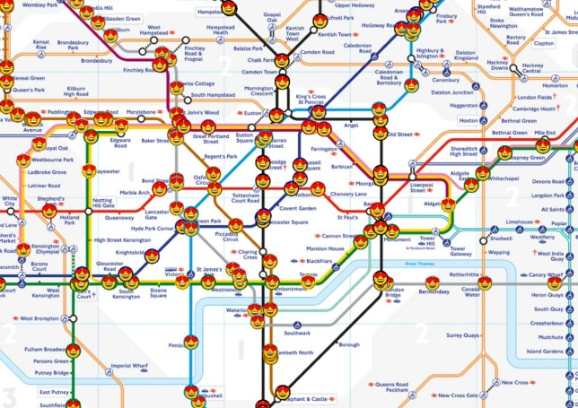 Live tube map shows where every train is at once