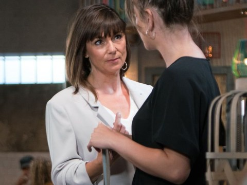 What is Paula hiding in Coronation Street as Jan link is exposed?