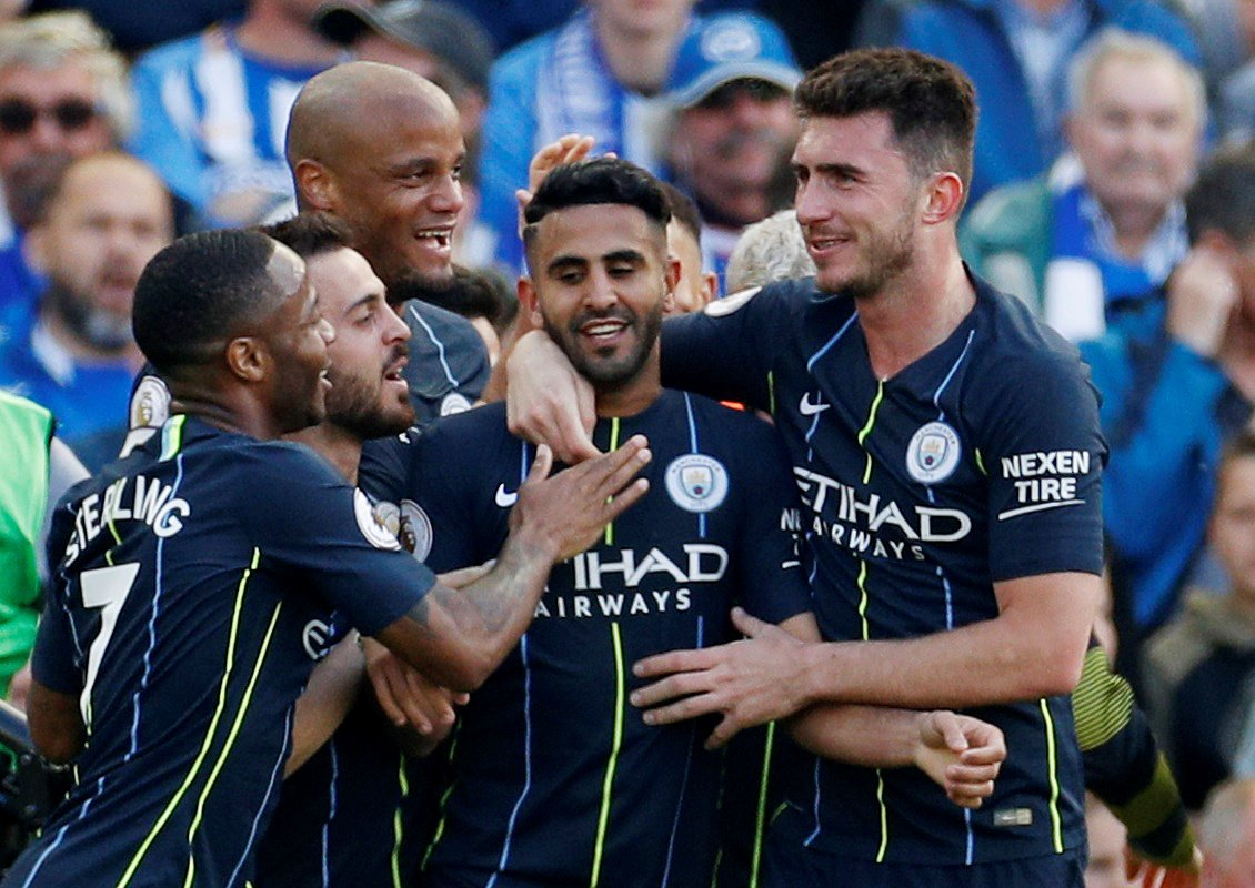 Riyad Mahrez's stunning goal all but confirmed Manchester City as Premier League champions