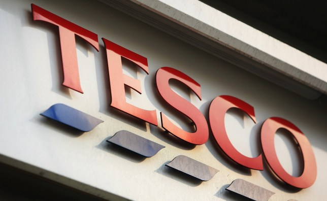 LONDON - JANUARY 14: A Tesco store sign is pictured in central London on January 14, 2008 in London, England. Tesco are due to announce their Christmas trading results tomorrow. (Photo by Daniel Berehulak/Getty Images)
