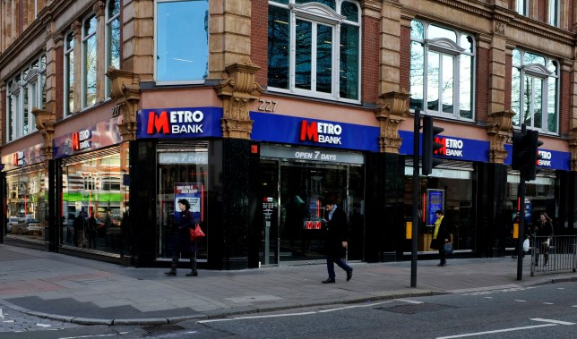 "File photo dated 09/02/15 of a branch of Metro Bank in Tottenham Court Road, London. Metro Bank has seen its shares come under pressure after the lender was forced to quash ""false rumours"" on social media over its financial health and said plans to shore up its finances were well advanced. PRESS ASSOCIATION Photo. Issue date: Monday May 13, 2019. See PA story CITY MetroBank. Photo credit should read: Nick Ansell/PA Wire"