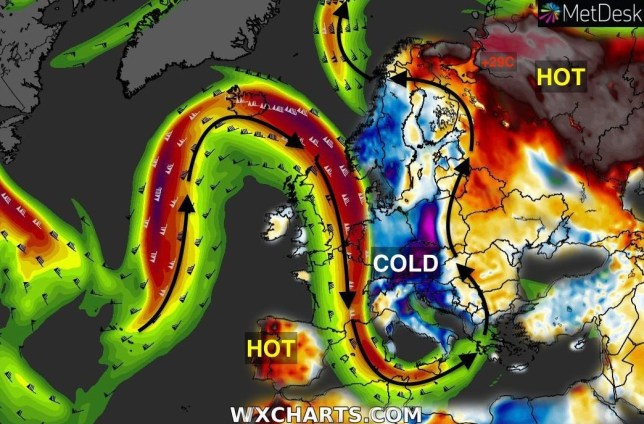 METRO GRAB TWITTER Scott From Scotland ??? @ScottDuncanWX Follow Follow @ScottDuncanWX More Unbelievable temperatures at high latitude today. @mikarantane pointed out that + 29 ??C was recorded at Arkhangelsk (Russia) at 11:00 UTC today. But notice the cold places too? The #Jetstream mapped on top of the temperature anomaly tells us so much about the atmosphere.