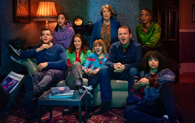 WARNING: Embargoed for publication until 20:00:01 on 13/04/2019 - Programme Name: Years and Years - TX: n/a - Episode: Years and Years generics (No. n/a) - Picture Shows: Daniel (RUSSELL TOVEY), Ruby (JADE ALLEYNE), Edith (JESSICA HYNES), Rosie (RUTH MADELEY), Muriel (ANNE REID), Stephen (RORY KINNEAR), Celeste (T'NIA MILLER), Bethany (LYDIA WEST) - (C) Red Productions - Photographer: Guy Farrow