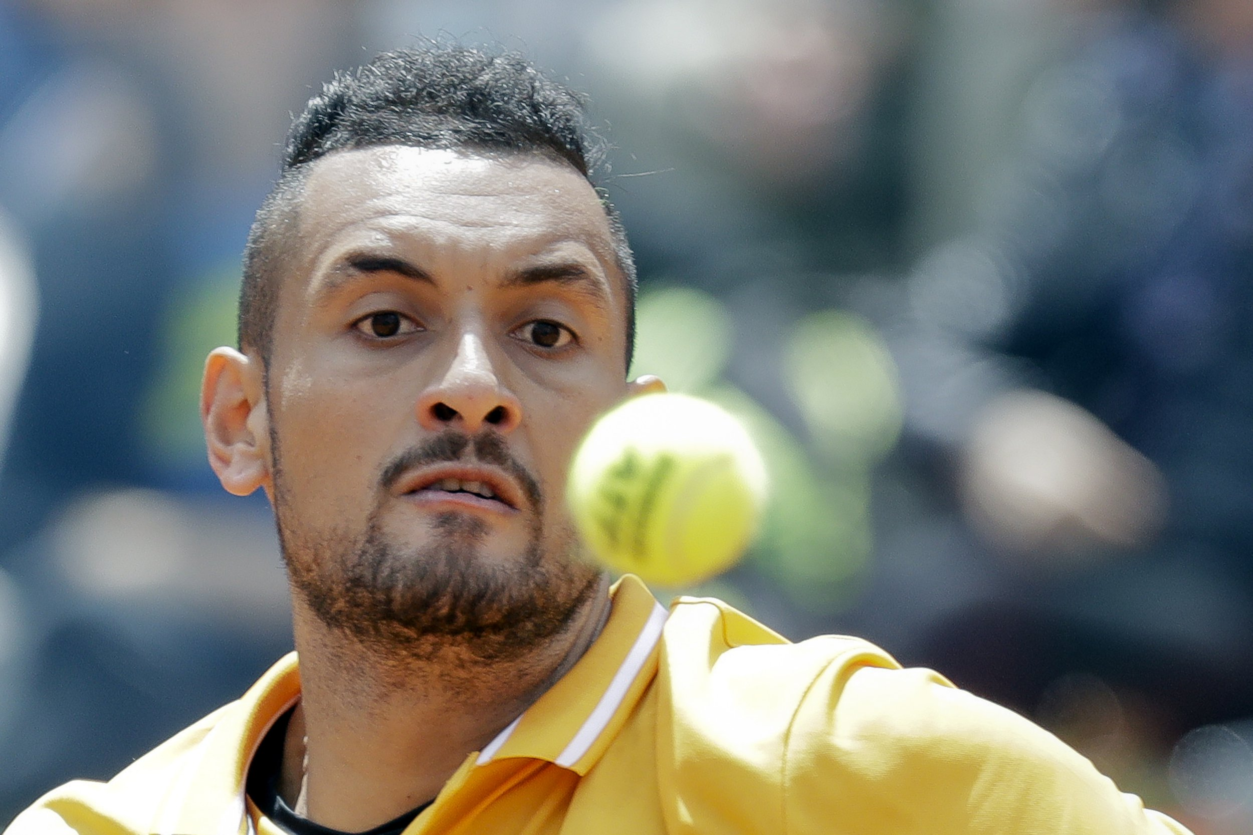 Furious Nick Kyrgios disqualified after launching chair onto court at Italian Open