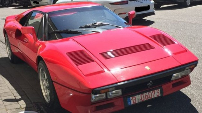 German police are looking for a rare 1980s Ferrari sports car believed to be worth more than 2 million euros ($2.2 million) after a man posing as a would-be buyer stole it during a test drive. Police in Duesseldorf said the man answering an advertisement for the red Ferrari 288 GTO , first registered in 1985, turned up for a previously agreed appointment in the western German city on Monday.
