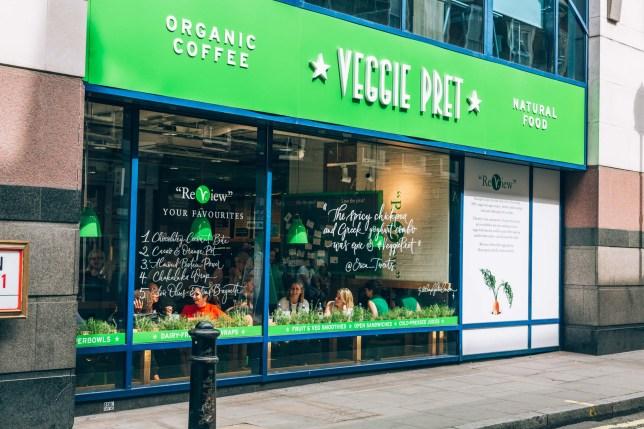 Veggie Pret in Soho, London