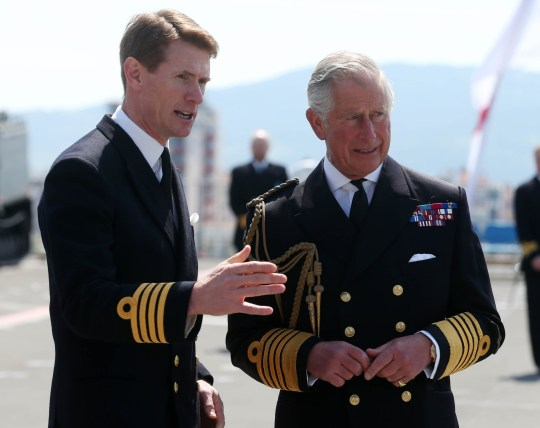 File photo dated 24/4/2015 of the Prince of Wales with Captain Nick Cooke-Priest. The captain of the largest and most powerful ship ever built for the Royal Navy has been sacked for misusing its official car, it has been reported. PRESS ASSOCIATION Photo. Issue date: Friday May 17, 2019. Cooke-Priest is no longer in charge of the HMS Queen Elizabeth because he is believed to have driven the aircraft carrier's official car on weekends, according to The Sun. See PA story DEFENCE Elizabeth. Photo credit should read: Niall Carson/PA Wire