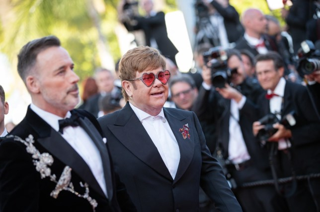 """BGUK_1591260 - ** RIGHTS: ONLY UNITED KINGDOM ** Cannes, UNITED KINGDOM - Celebrities attend the screening of """"Rocketman"""" during the 72nd annual Cannes Film Festival in Cannes, France. Pictured: Elton John, David Furnish BACKGRID UK 16 MAY 2019 BYLINE MUST READ: BEST IMAGE / BACKGRID UK: +44 208 344 2007 / uksales@backgrid.com USA: +1 310 798 9111 / usasales@backgrid.com *UK Clients - Pictures Containing Children Please Pixelate Face Prior To Publication*"""