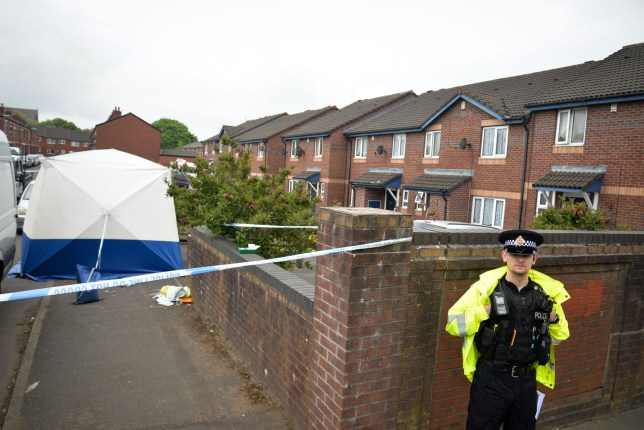 Police said the fight 'escalated quickly' and the man was stabbed in the neck in Rochdale