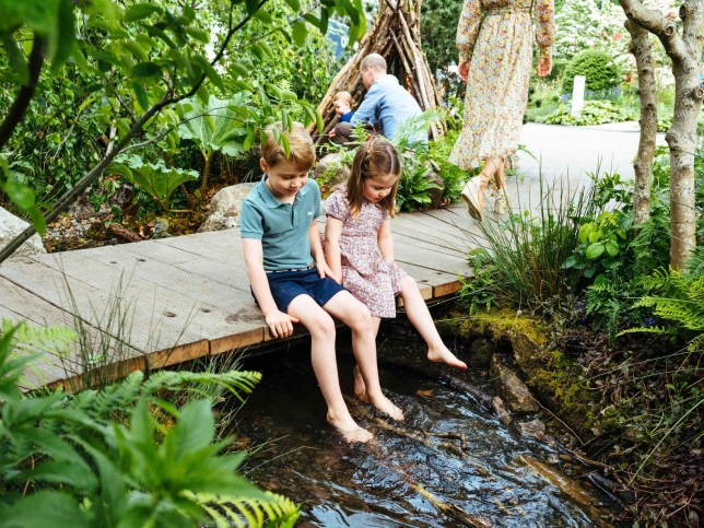 "TOPSHOT - A picture released by Kensington Palace on May 19, 2019 shows Britain's Prince William, Duke of Cambridge and Britain's Catherine, Duchess of Cambridge with their children Prince George (L), Princess Charlotte (C) and Prince Louis at the Adam White and Andree Davies co-designed 'Back to Nature' garden ahead of the RHS Chelsea Flower Show in London. (Photo by Matt Porteous / KENSINGTON PALACE / AFP) / RESTRICTED TO EDITORIAL USE - MANDATORY CREDIT ""AFP PHOTO / KENSINGTON PALACE / MATT PORTEOUS"" - NO MARKETING NO ADVERTISING CAMPAIGNS - DISTRIBUTED AS A SERVICE TO CLIENTS - NO USE AFTER DECEMBER 31, 2019 - TO BE USED IN RELATION TO THE EVENTS MENTIONED IN CAPTION / MATT PORTEOUS/AFP/Getty Images"