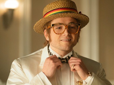 Who plays Elton John in Rocketman and who else is in the cast?